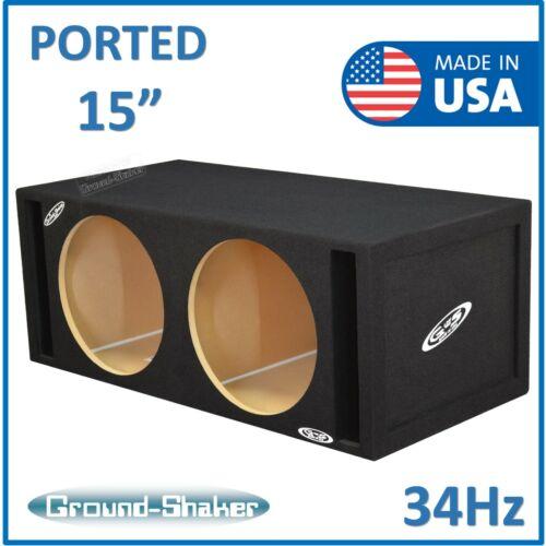"Dual 15"" Ported / Vented Sub Box Subwoofer Enclosure Speaker Box Ground Shaker"