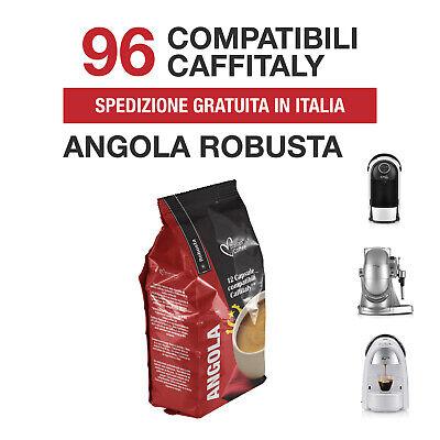 96 Capsule caffè Angola 100% Robusta Italian Coffee compatibili Caffitaly