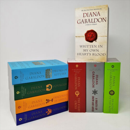 Outlander Series Volumes 1-8 Book Set By Diana Gabaldon Mass Market Paperbacks