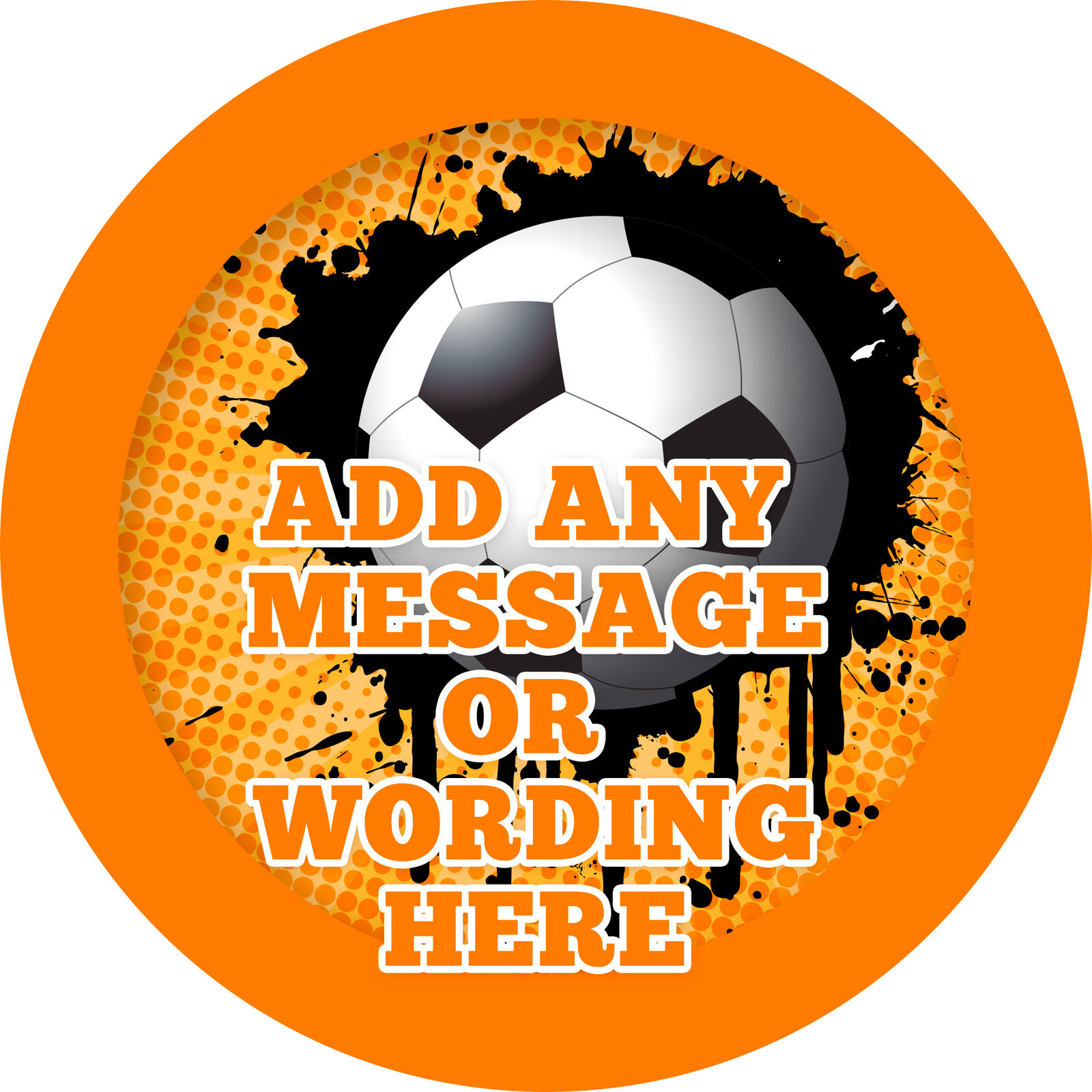 Football Soccer Sticker Labels for Party Bag Sweet Cones