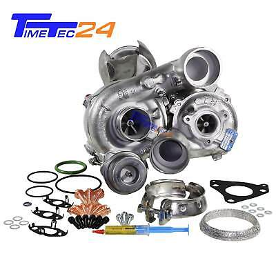 Turbolader Bi-Turbo Mercedes C E GLK 220 250 CDI OM651 54399700099 + Montagesatz