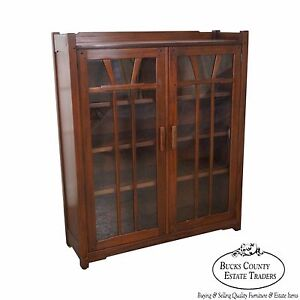 Stickley Antiquities Pasadena Collection House Arts Crafts Bookcase