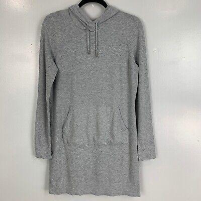 Fabletics Hooded Yukon Knit Sweater Dress Heather Gray Size M