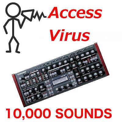 10,000 + Access Virus Sonido Biblioteca - Un B C Ti Programas...