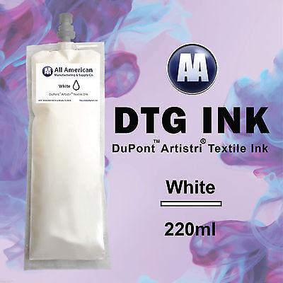 DTG Ink White 220ml DuPont Artistri Ink for Direct to Garment Printer Best
