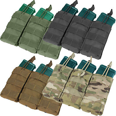 Condor MA27 Triple 5.56/.223 Tactical MOLLE PALS Bungee Open-Top Magazine Pouch Open Magazine Pouch