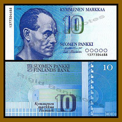 Finland 10 Markkaa, 1986 P-113a Unc