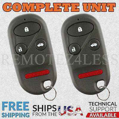 2 For 1998 1999 2000 2001 2002 Honda Accord Remote Car Keyless Entry Key Fob