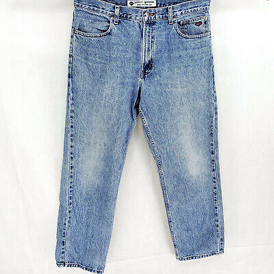 Harley Davidson 34x30 Blue Jeans Work Pants Riding Motorcycle Straight Leg