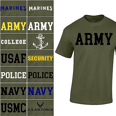 Us Army Air Force - NEW US Army Navy Air Force USAF Marines USMC Military Physical Training T Shirt