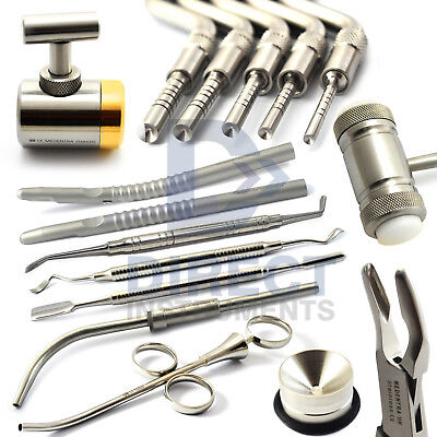 Implant Bone Grafting Instruments Dental Bone Graft Syringe Crusher Osteotome Ce