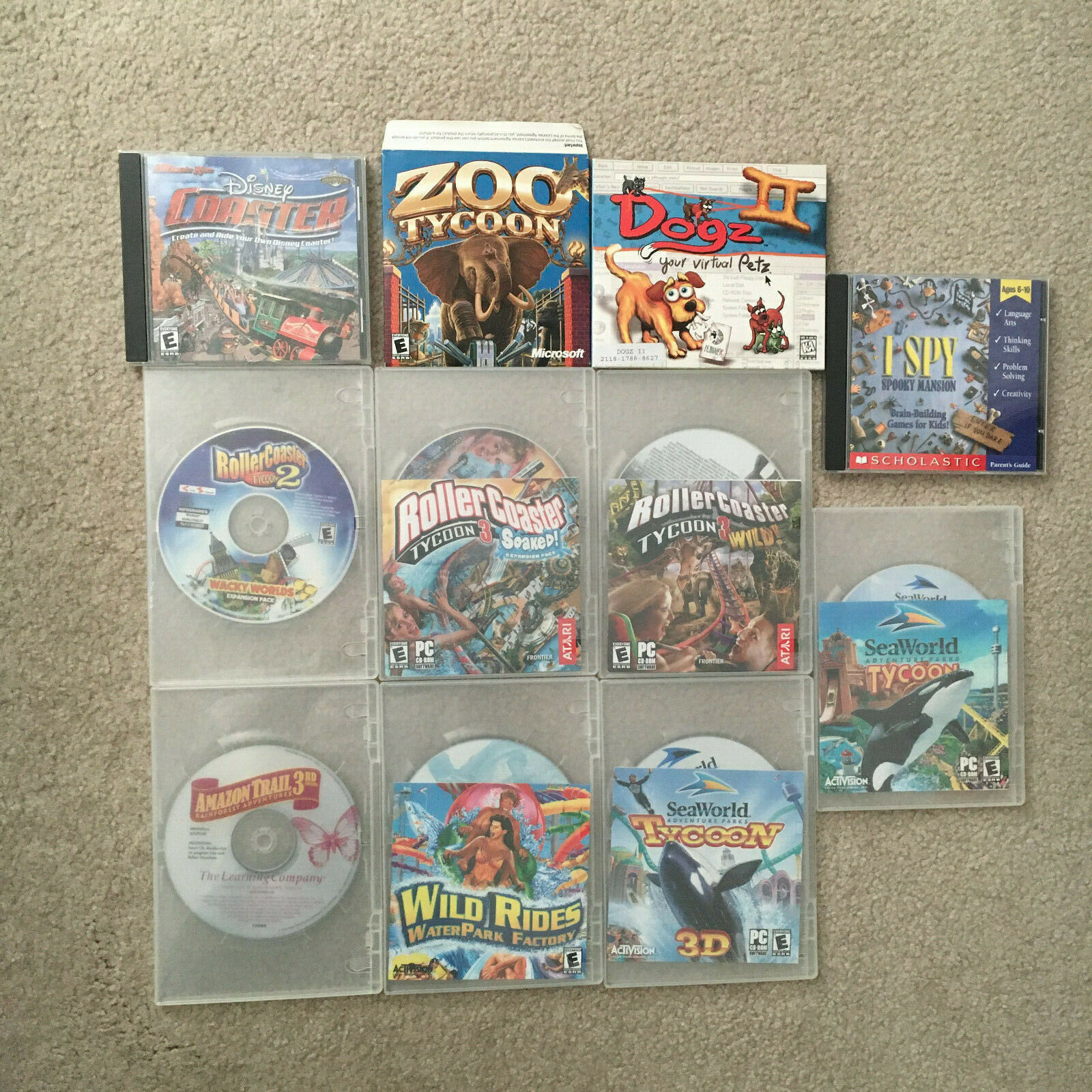 Computer Games - 11 PC CD-ROM Computer Games LOT BUNDLE
