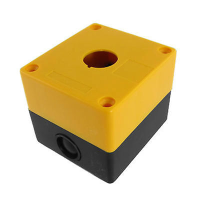 22mm Yellow Black  Push Button Switch Station Control Plastic Box  Case Push-button Switch-box