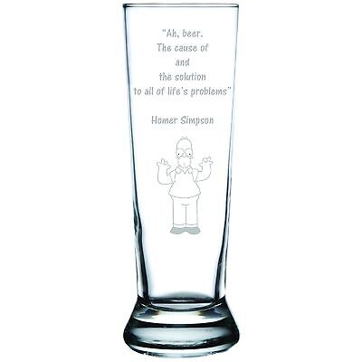 Engraved Personalized Customized Pilsner Beer Glass Designed to Your - Personalized Beer