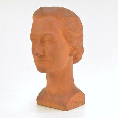Jean CANNEEL (1889-1963) Sculpture buste de femme en grès