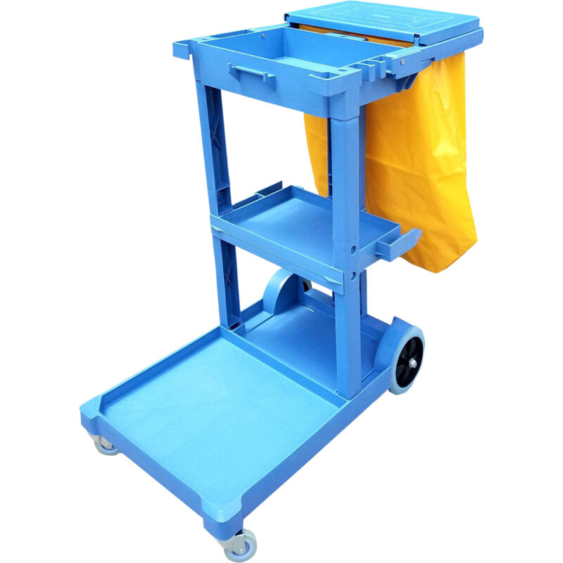 Namco Maid Cart with Vinyl Collection Bag - 46in.L x 21.8in.W x 38.4in.H 6035