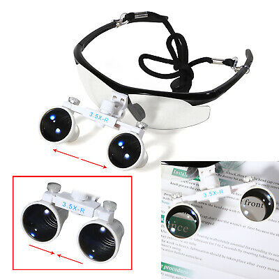3.5 X 420 Dental Surgical Loupes Medical Binocular Glasses Magnifier Red