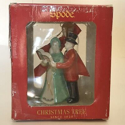 NEW in Box Spode Christmas Tree ORNAMENT XMAS HOLIDAY Carolers Singing Lamppost