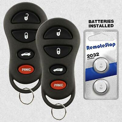 2 For 2001 2002 2003 2004 Dodge Intrepid Stratus Keyless Car Remote Key Fob