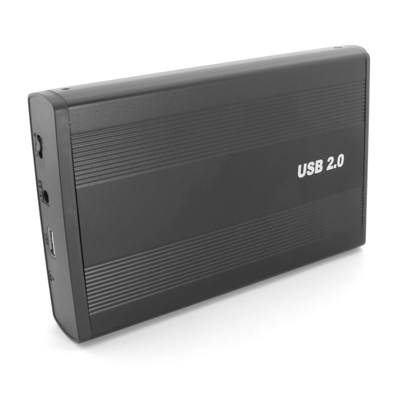 US 3.5 Inch IDE Desktop Hard Drive Enclosure USB 2.0 External Case Black