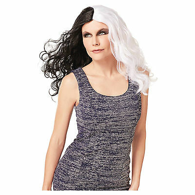 Target Adult Wig Day & Night Black White Long Wicked Witch Costume Hairpiece (Wigs Target)