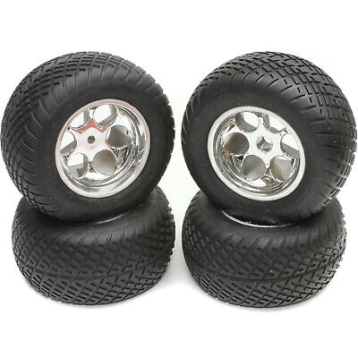 """Orion Street Sweeper Truck Tires Front 76452 & Rear 76453 Mounted for 2.2"""" Losi"""