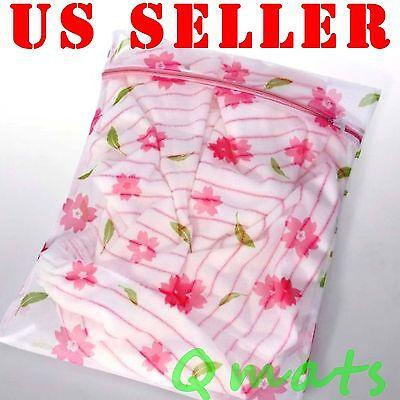 x2 NEW  Laundry Fine Mesh Wash Bag Hosiery Lingerie Zipper Bag 40X50cm WHOLESALE