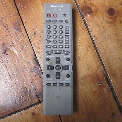 Genuine Original Panasonic EUR7615KHO DVD TV Remote Control Tested Free Post