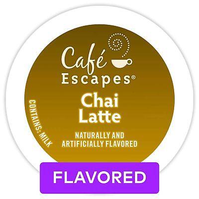 Café Escapes Keurig Single-Serve K-Cup Pods, Chai Latte, 24 Count (packaging ... Count Single Serve Packages
