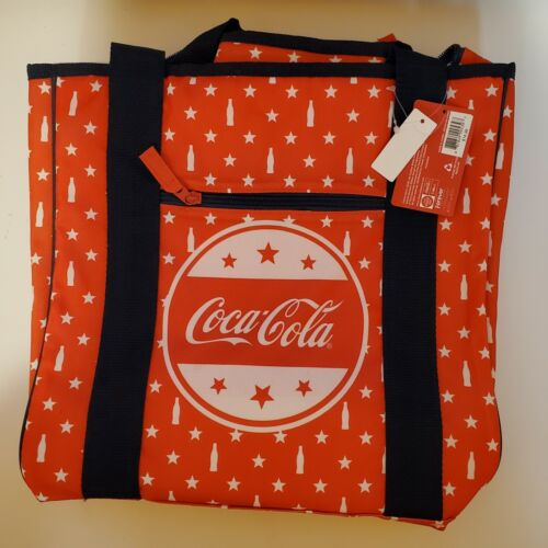 Forever Collectibles Red Insulated Coca-Cola Cooler Bag - Tote Bag