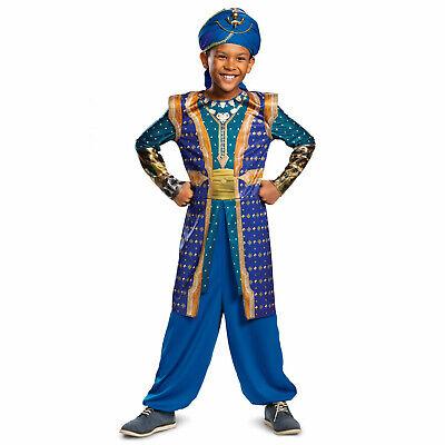 Child Boys 2019 Aladdin Disney Blue Genie Live Action Halloween Costume