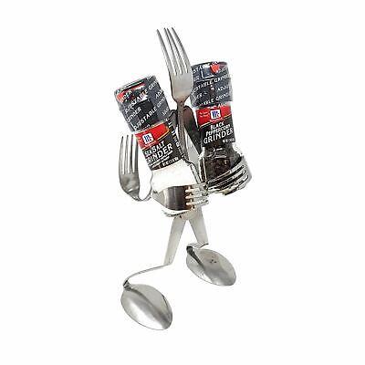 Forma de Tenedor Arte Vajilla Salt & Pepper Triturador Frascos Juego Restaurante segunda mano  Embacar hacia Spain