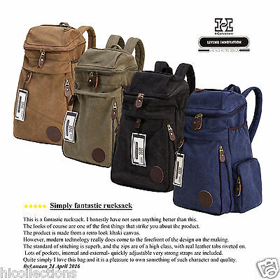 Canvas Backpack Travel Messenger Sport Hiking Rucksack Vintage Laptop School Bag