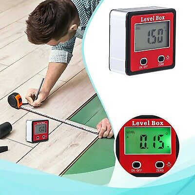 Inclinometer Level Box Protractor Gauge Angle Finder Lcd Digital Display Tool