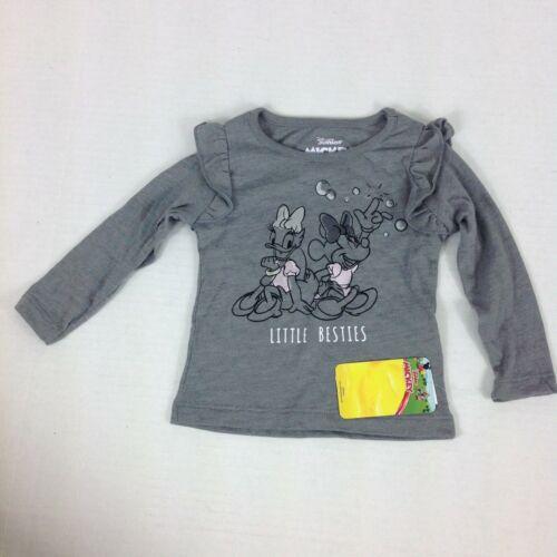 Disney Junior Little Besties Girls Size 12 Months Gray Shirt Long Sleeve New