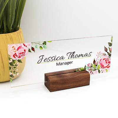 Personalized Name Plate For Desk Nameplate Sign Modern Office Decor Executive De
