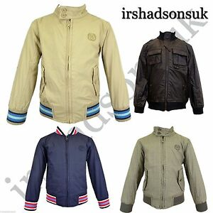 New-Children-Kids-Boys-Light-Weight-Summer-Harrington-Jacket-Coat-Size-2-10Years