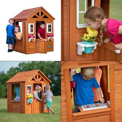 timberlake all cedar playhouse | backyard wooden outdoor discovery kids cottage, used for sale  USA