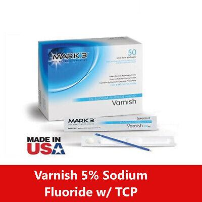Mark3 Varnish 5 Sodium Fluoride W Tcp Box Of 50 Mint Bubblegum Or Caramel