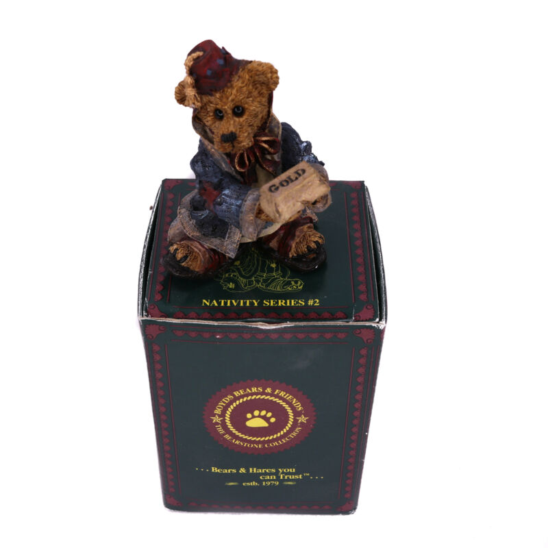 Boyds Bears Navitity Series #2 Wilson as Melchior with Gold #2404