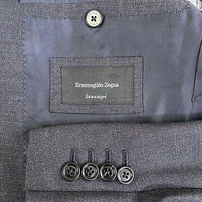 Ermenegildo Zegna Trecapi Milano 100% Wool Blazer Dark Gray Men's Size US 40R