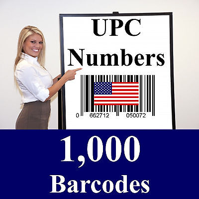 1000 Legal Upc Number Ean Number Bar Code Upc Numbers Upc Barcodes Upc Amazon