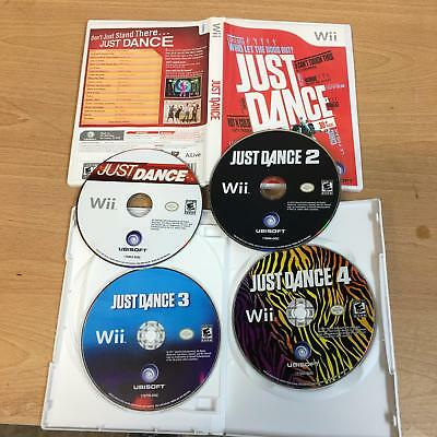 Just Dance 1 2 3 4 Nintendo Wii 4 Game Bundle