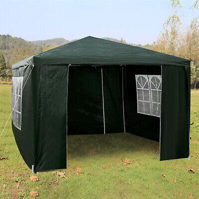 Heavy Duty Gazebo Marquee Canopy Waterproof Garden Party Tent w/Sides Green 3x3M