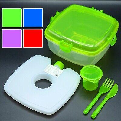 Salat To Go Lunchbox-Set Inkl. Kühlakku | Salatcup Vesperbox Brotdose Frischebox