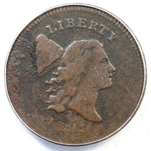 1795 C-6a R-2 ANACS VF 20 Details Plain Edge Liberty Cap Half Cent Coin 1/2c