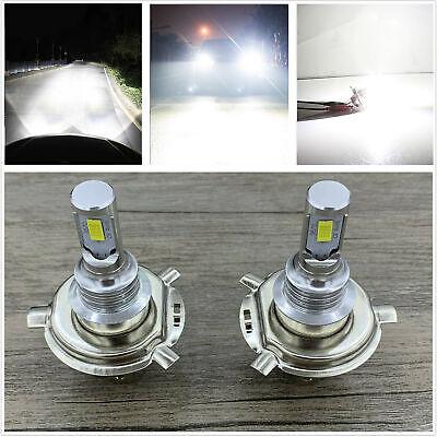 H4 9003 HB2 6000k SUPER WHITE CSP LED Headlights Bulbs Kit High Low Beam