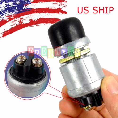 12 Volt DC Heavy-Duty Momentary Push-Button Engine Starter Switch (50 Amps)