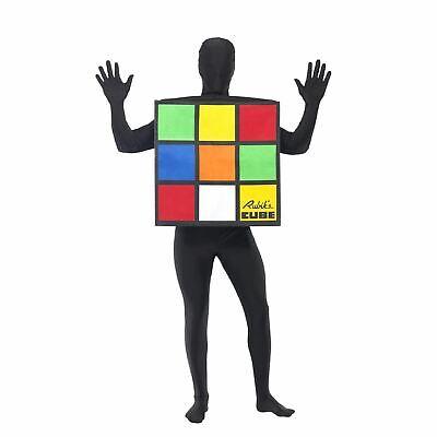 Erwachsene Unisex Vintage Zauberwürfel Puzzle Kostüm Stag Kostüm Retro Spielzeug