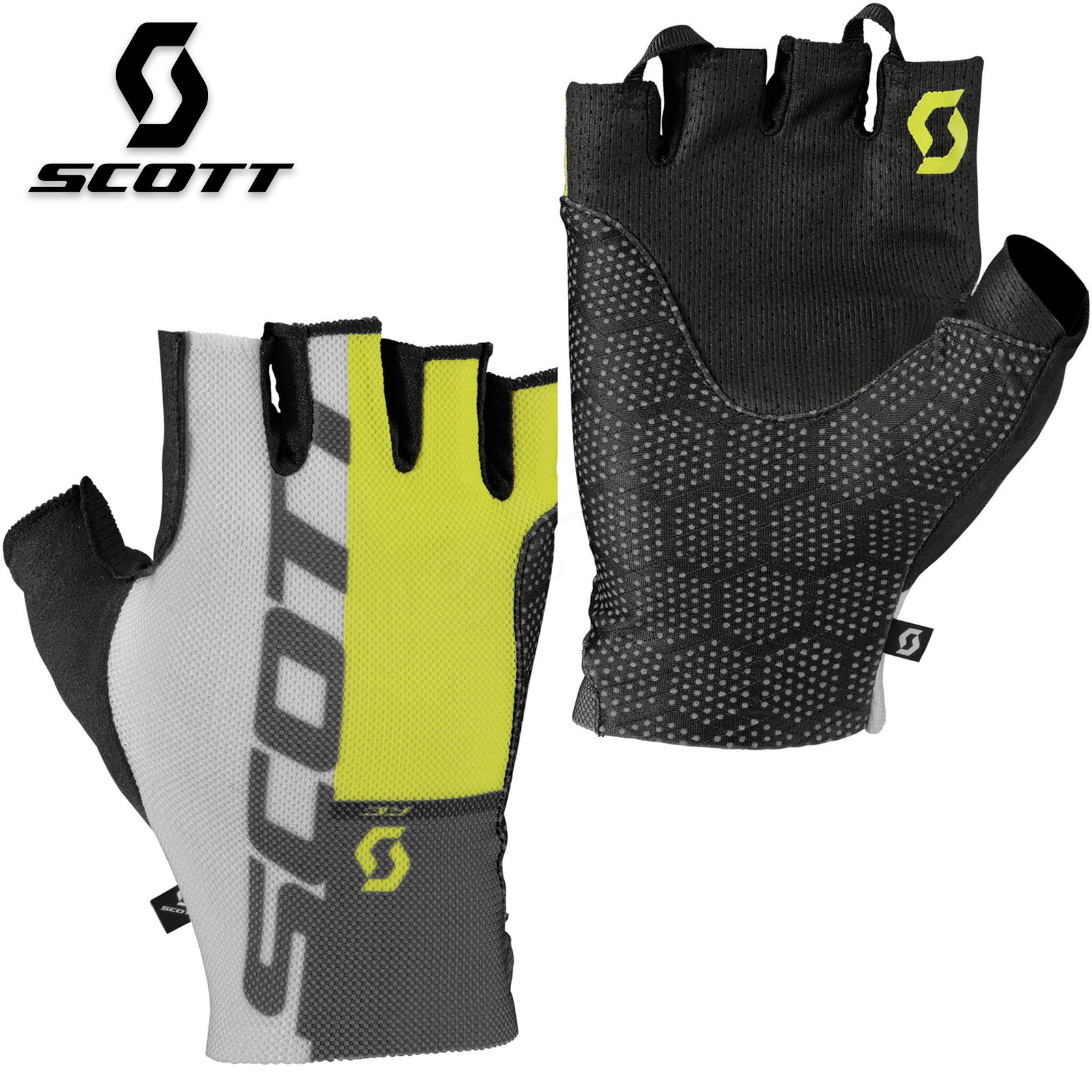 Scott RC Pro Tec Mens Cycling Gloves Mountain Biking MTB Fingerless Bicycle